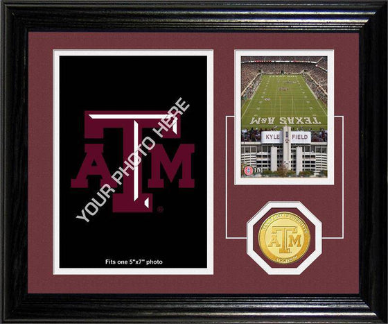 "Texas A&M University Texas A&M University ""Fan Memories"" Bronze Coin Desk Top Photo Mint (HM) - 757 Sports Collectibles"