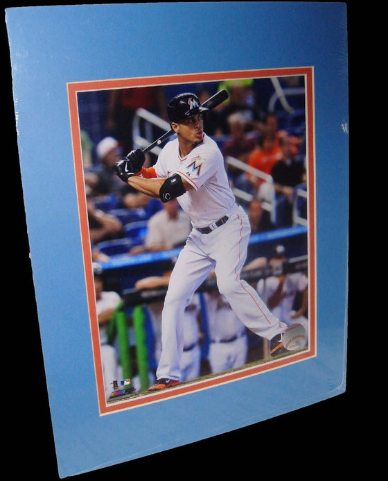 Giancarlo Stanton Miami Marlins White Matted 8x10 Photo Picture Poster Print