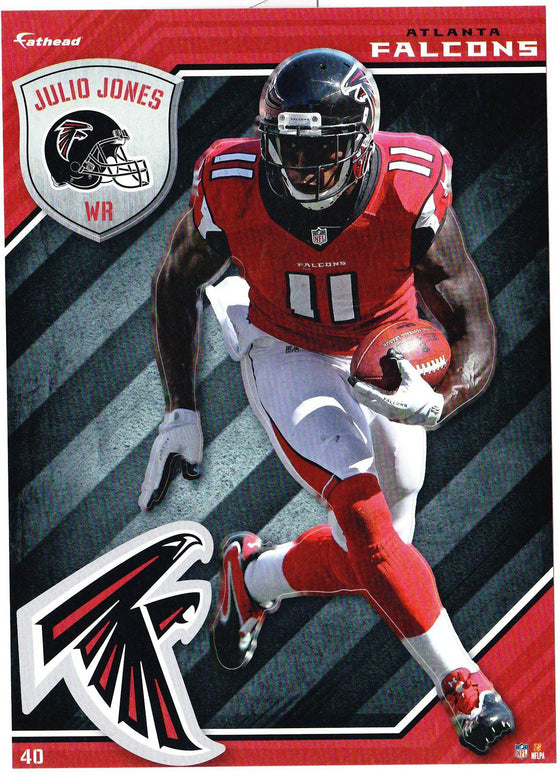 NFL Atlanta Falcons Julio Jones Fathead Tradeable Decal Sticker 5x7