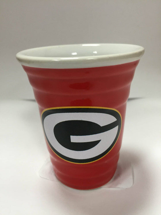 NFL Green Bay Packers Solo Cup Ceramic 2 oz Shot Glass