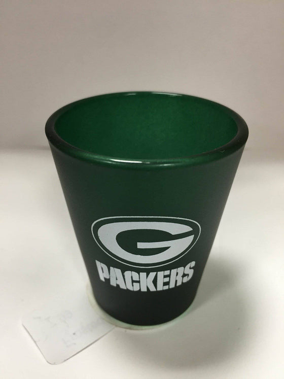 NFL Green Bay Packers Color Frosted 2 oz Shot Glass