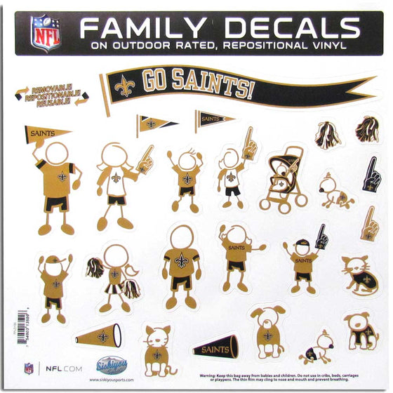 New Orleans Saints Family Decal Set Large (SSKG)