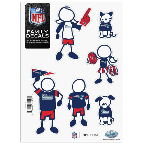 New England Patriots Family Decal Set Small (SSKG)