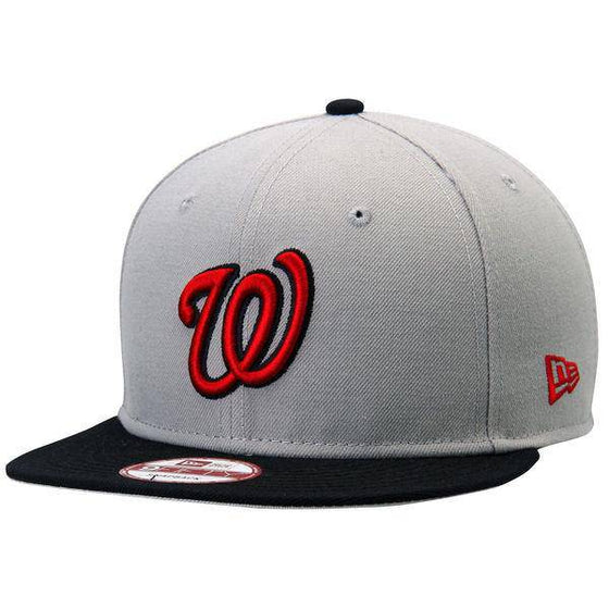 MLB Washington Nationals New Era 9Fifty Gray Snapback Hat - 757 Sports Collectibles