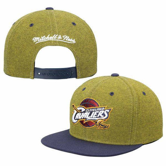NBA Cleveland Cavaliers Mitchell and Ness Denim Harry Two Tone Snapback Hat - 757 Sports Collectibles