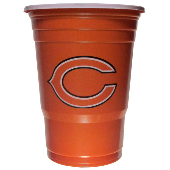 NFL Chicago Bears Gameday Plastic Solo Cups (18 pack - 18 oz) - 757 Sports Collectibles