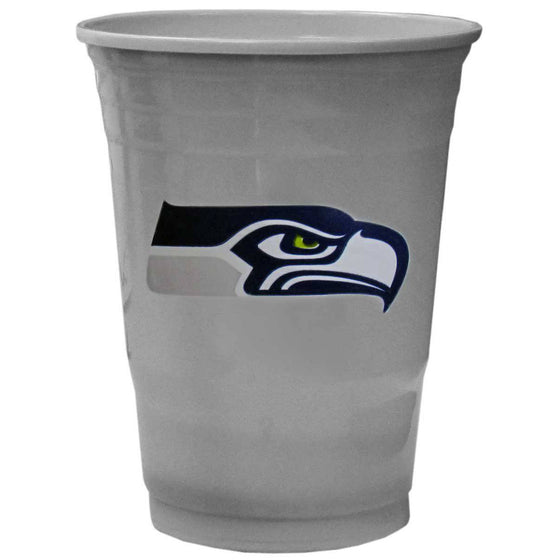 NFL Seattle Seahawks Gameday Plastic Solo Cups (18 pack - 18 oz)