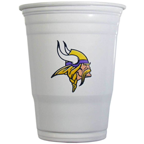 NFL Minnesota Vikings Gameday Plastic Solo Cups (18 pack - 18 oz) - 757 Sports Collectibles