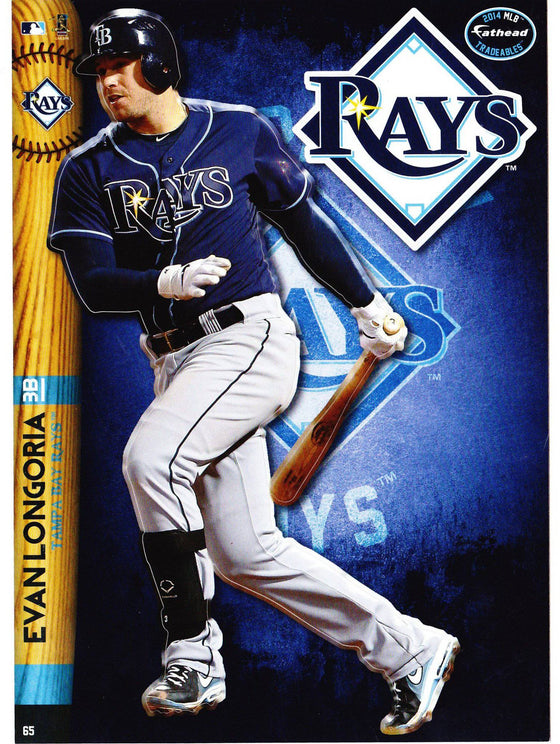 MLB Tampa Bay Rays Evan Longoria Fathead Tradeable Decal Sticker 5x7
