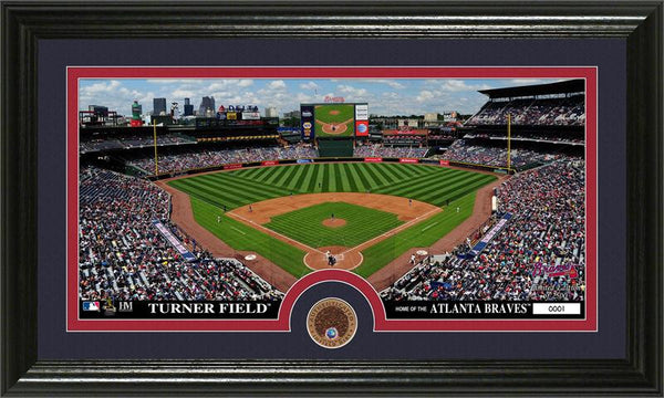 Atlanta Braves Infield Dirt Coin Panoramic Photo Mint (HM)