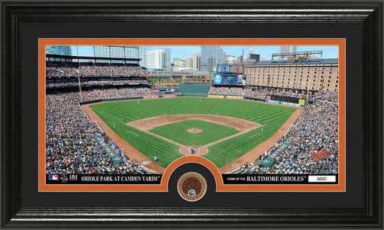 Baltimore Orioles Infield Dirt Coin Panoramic Photo Mint (HM)