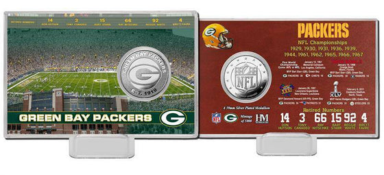 Green Bay Packers Super Bowl Silver Coin Card (HM) - 757 Sports Collectibles