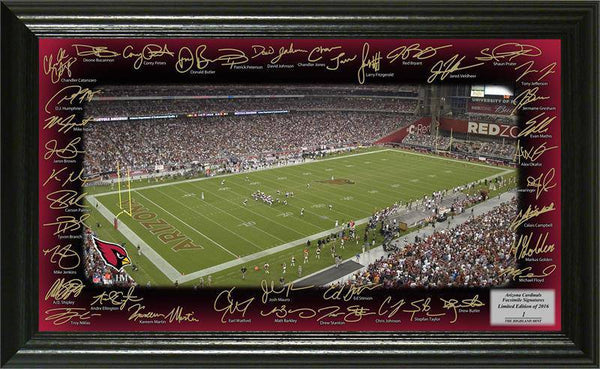 Arizona Cardinals 2016 Signature Gridiron Collection 12x20 Team Signed Facsimile Autographs