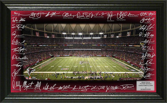 Atlanta Falcons 2016 Signature Gridiron Collection 12x20 Team Signed Facsimile Autographs