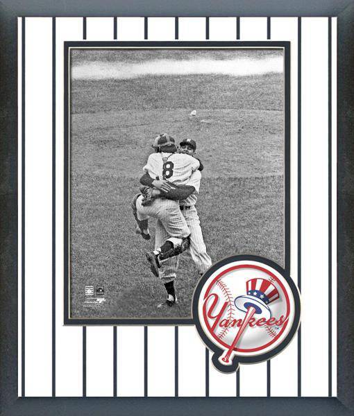 MLB New York Yankees Don Larsen & Yogi Berra WS Perfect Game Framed 8x10 Photo - 757 Sports Collectibles