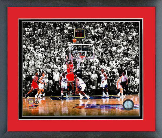 NBA Chicago Bulls Michael Jordan 1998 Finals Game 6 Winner Spot Light Framed 11x14 Photo