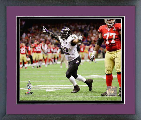 NFL Baltimore Ravens Ray Lewis Last Play Super Bowl XLVII Framed 11x14 Photo