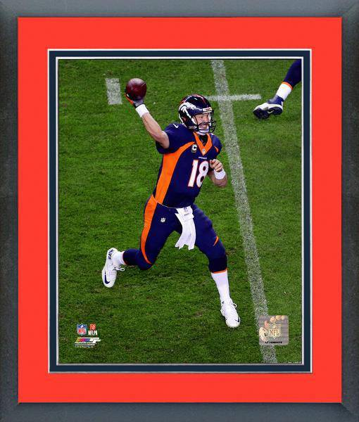 NFL Denver Broncos Peyton Manning Record Career TD Pass Framed 11x14 Photo - 757 Sports Collectibles