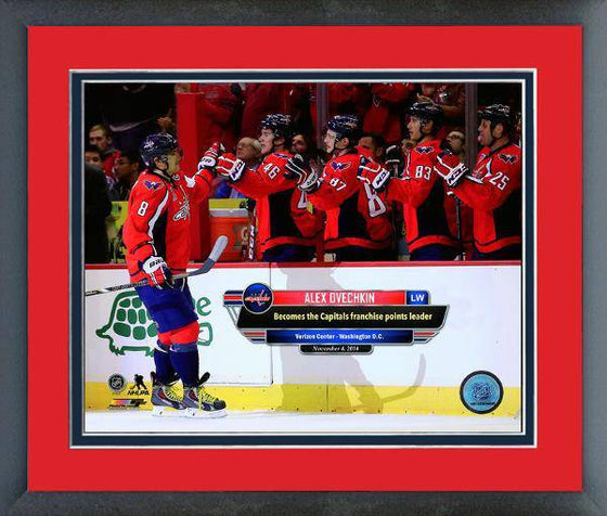 NHL Washington Capitals Alexander Alex Ovechkin Points Record Framed 8x10 Photo