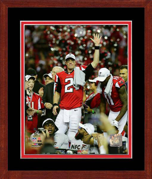 Atlanta Falcons Matt Ryan 2016 NFC Championship Team Color Matting Framed 11x14 Photo (Cherry)