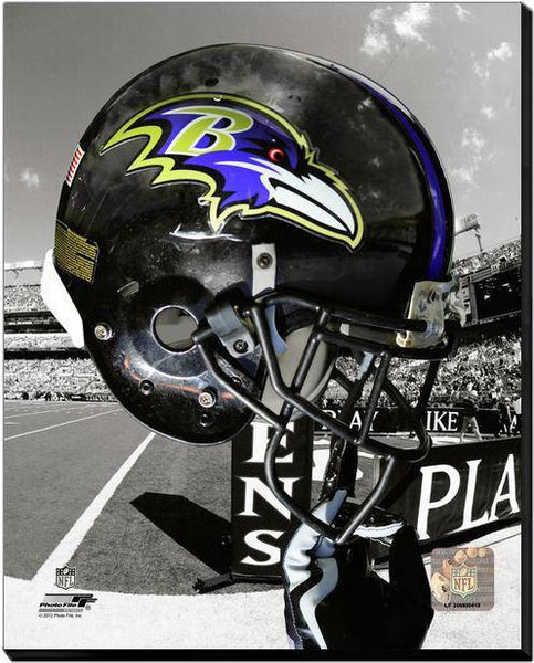 Baltimore Ravens Helmet Stretched 20x24 #2 Canvas
