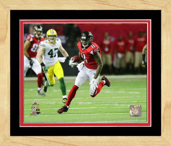 Atlanta Falcons Julio Jones 2016 NFC Championship Team Color Matting Framed 11x14 Photo (Maple)