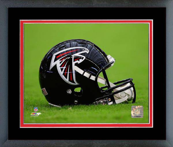 Atlanta Falcons Framed 20x24 Helmet Photo w/ Team Color Matting