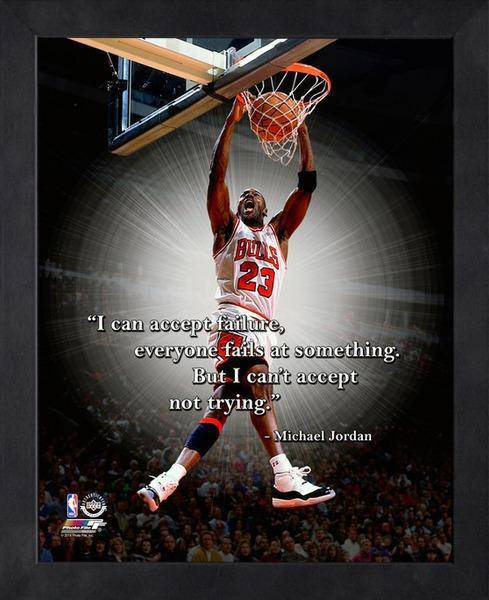 NBA Chicago Bulls Michael Jordan Framed 11x14 Pro Quotes Failure ...