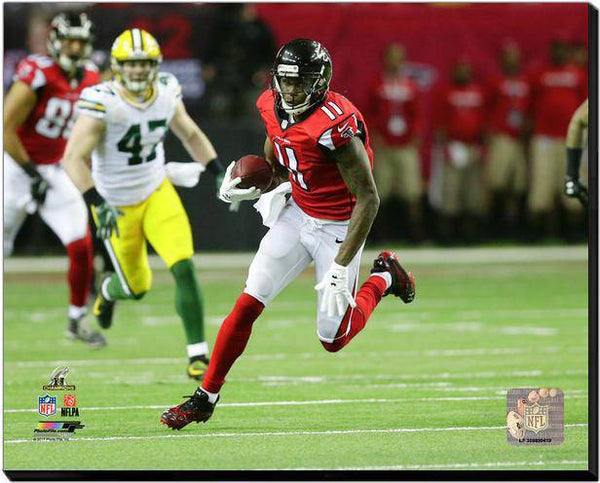Atlanta Falcons Julio Jones 2016 NFC Championship 40x50 Stretched Photo Canvas