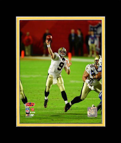 Drew Brees New Orleans Saints Super Bowl Matted 8x10 Photo Picture Poster Print