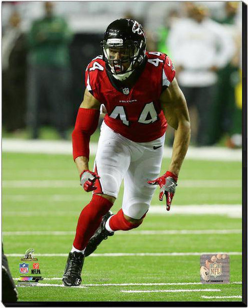 Atlanta Falcons Vic Beasley 2016 NFC Championship 20x24 Stretched Photo Canvas