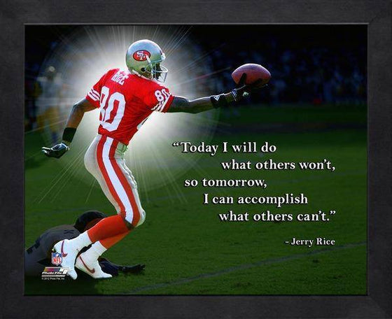NFL San Francisco 49ers Jerry Rice Framed 11x14 Pro Quotes