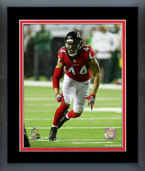 Atlanta Falcons Vic Beasley 2016 NFC Championship Team Color Matting Framed 16x20 Photo (Black)