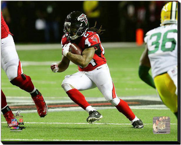 Atlanta Falcons Devonta Freeman 2016 NFC Championship 40x50 Stretched Photo Canvas