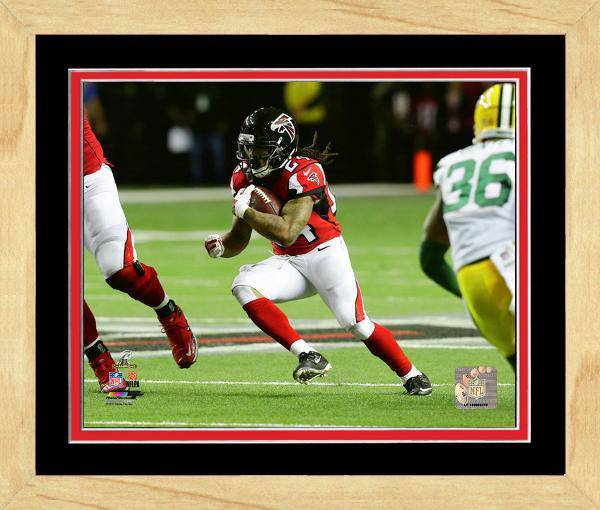 Atlanta Falcons Devonta Freeman 2016 NFC Championship Team Color Matting Framed 11x14 Photo (Maple)