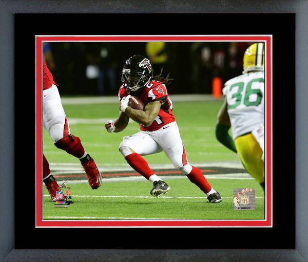 Atlanta Falcons Devonta Freeman 2016 NFC Championship Team Color Matting Framed 16x20 Photo (Black)