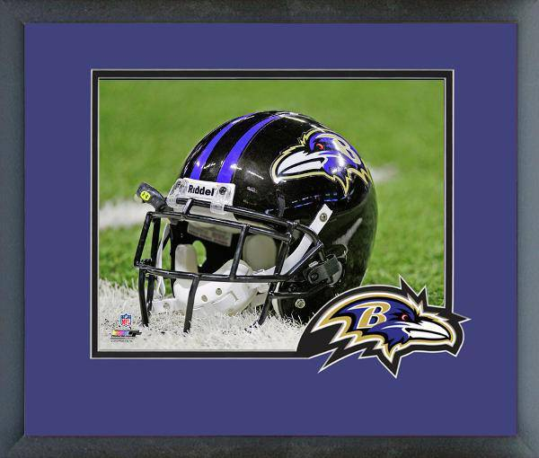 Baltimore Ravens Framed 8x10 Helmet Photo w/ Team Logo Matting
