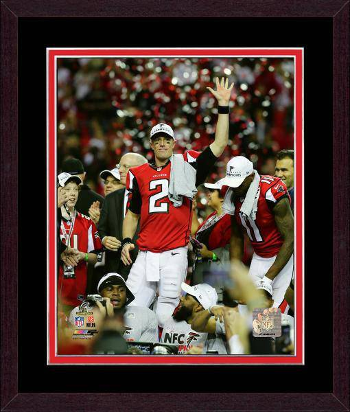 Atlanta Falcons Matt Ryan 2016 NFC Championship Team Color Matting Framed 20x24 Photo (Mahogany)
