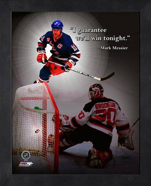 NHL New York Rangers Mark Messier Framed 11x14 Pro Quotes Guarantee