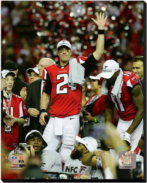 Atlanta Falcons Matt Ryan 2016 NFC Championship 20x24 Stretched Photo Canvas