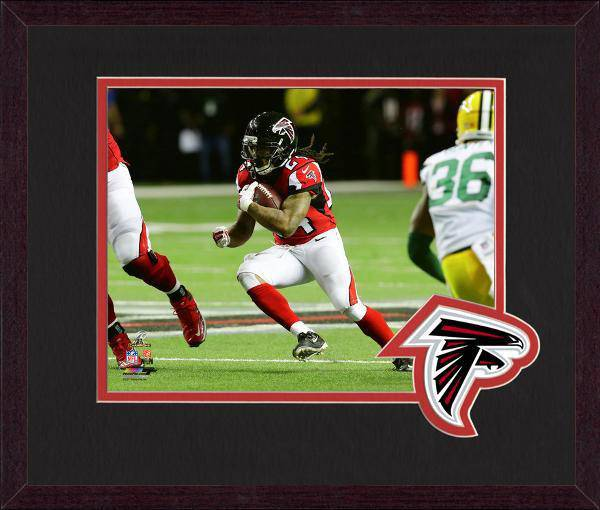 Atlanta Falcons Devonta Freeman 2016 NFC Championship Team Logo Matting Framed 8x10 Photo (Mahogany)