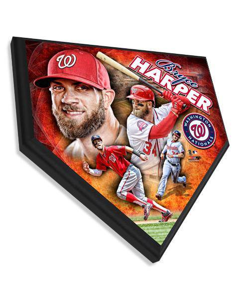 MLB Washington Nationals Bryce Harper Hi-Def Home Plate Plaque