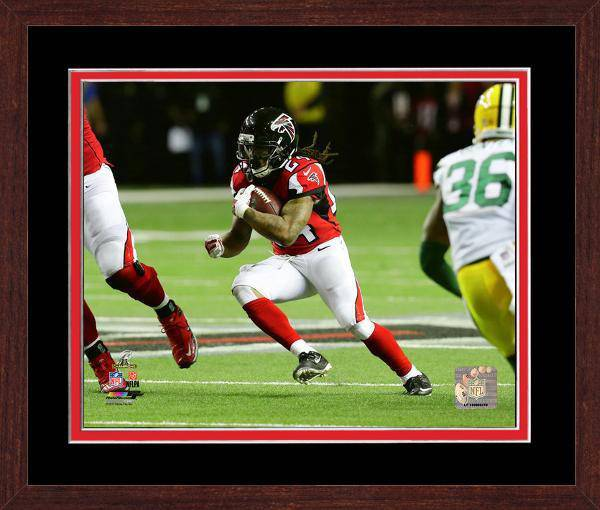 Atlanta Falcons Devonta Freeman 2016 NFC Championship Team Color Matting Framed 16x20 Photo (Walnut)