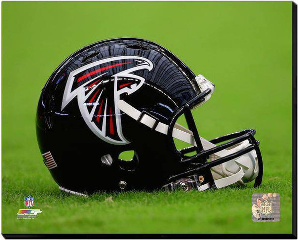 Atlanta Falcons Helmet Stretched 16x20 Canvas