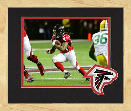 Atlanta Falcons Devonta Freeman 2016 NFC Championship Team Logo Matting Framed 8x10 Photo (Oak)