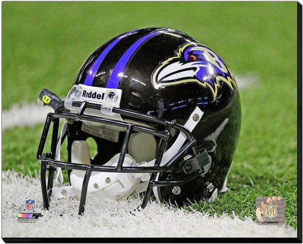 Baltimore Ravens Helmet Stretched 20x24 Canvas