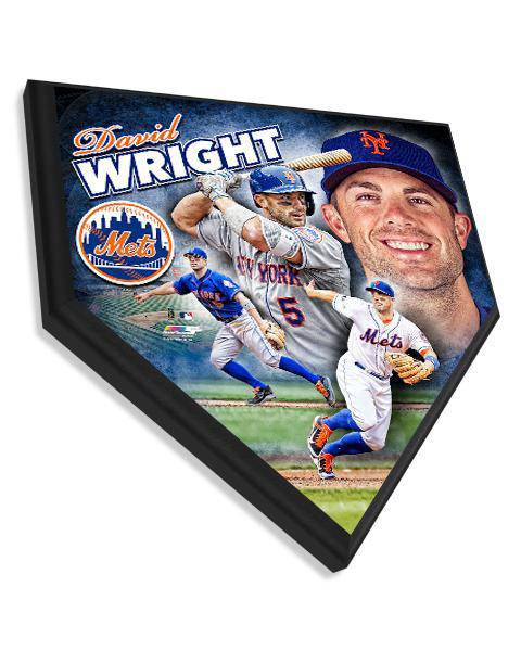 MLB New York Mets David Wright Hi-Def Home Plate Plaque
