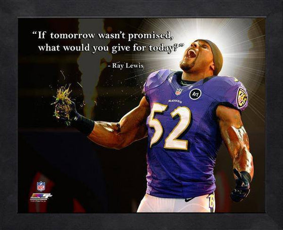 NFL Baltimore Ravens Ray Lewis Framed 11x14 Pro Quotes Today