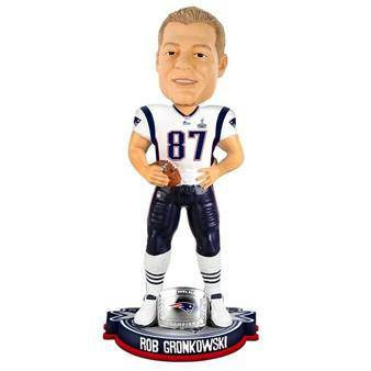 New England Patriots Rob Gronkowski Forever Collectibles Super Bowl 49 Champ Bobble Head