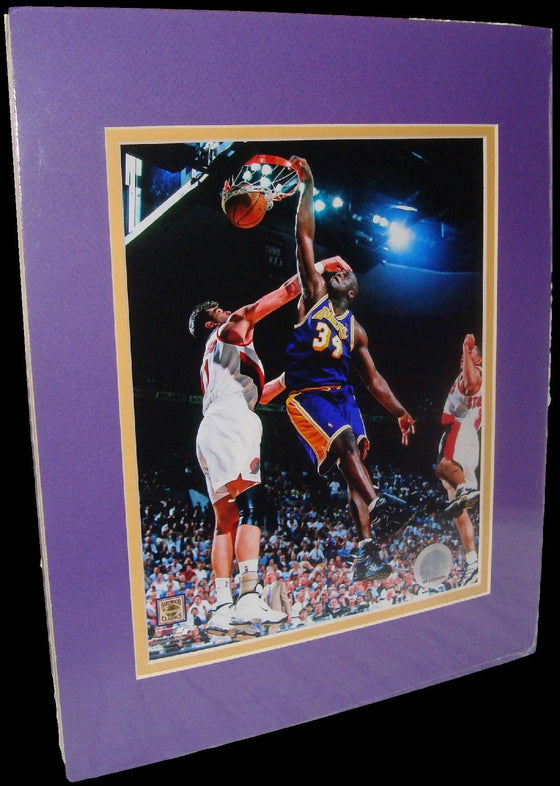 Shaquille O'Neal Los Angeles Lakers Purple Matted 8x10 Photo Picture Poster Print